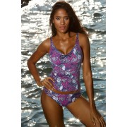 Paradise Purple curves női tankini felsőrész