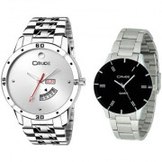 Crude Combo of 2 Stainless steel watch-rg2523 for Couple