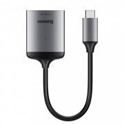 Adaptor USB-C la Card Reader, Baseus Enjoy HUB, gri