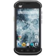 "Telefon Mobil CAT S40, Procesor Quad-Core 1.1GHz, IPS LCD Capacitive touchscreen 4.7"", 1GB RAM, 16GB Flash, 8MP, Wi-Fi, 4G, Dual Sim, Android (Negru) + Cartela SIM Orange PrePay, 6 euro credit, 4 GB internet 4G, 2,000 minute nationale si internationale fi"