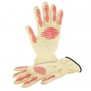 Rosenstein & Söhne 3in1-Sicherheits-Handschuh mit Hitze- und Schnittschutz, 2er-Set