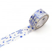 Masking tape - mt fab Hot Stamping Tape, star blue 15 mm