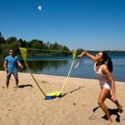 Schildkröt Federball/Badminton Set kompakt, 2 Spieler