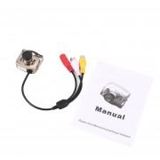 IR Mini Cámara CCTV con cable de seguridad de visión nocturna en color