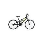 Bicicleta Mormaii Aro 26 Fullsion 18 Marchas Preta Fosco