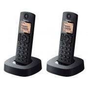 Panasonic Teléfono Inalámbrico Dúo PANASONIC KX-TGC312SPB Negro