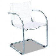 Safco Products 3457WH Flaunt Guest Leather Chair, White