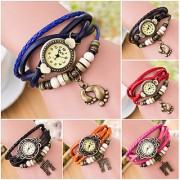 i DIVA'S NEW Green Leather Strap Watch Hand-knted Leather watch women' watches