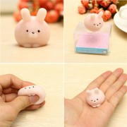 Mochi Pink Bunny Ball Kawaii Squishy Squeeze Cute Healing Toy Collection Stress Reliever Gift Decor
