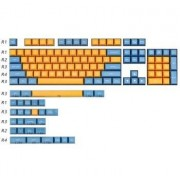 MAXKEY SA KA Keycaps set Doubleshot ABS 125 keys for cherry mx mechanical keyboard