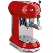 GARANTIE 2 ANI Expresor de cafea SMEG RETRO `50, sistem incalzire thermoblock, 15 bari, sistem antipicurare, panou control facil, rezervor apa 1 litru, putere 1350W, ROSU, ECF01RDEU