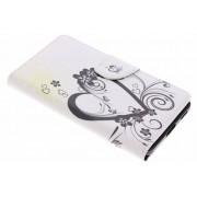 Hartje design TPU booktype hoes voor de Nokia 6