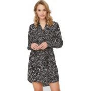 Vero Moda Rochie pentru femei VMSINE L / S SHORT DRESS WVN BF Black Lydia S