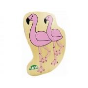 Jucarie din lemn pentru snuruit - Flamingo