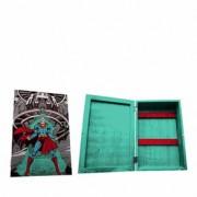 Porta Chaves de Madeira Super Homem Dc Comics