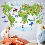Sticker perete Map of the world