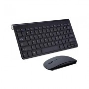 Tactus Compact Wireless Keyboard and Mouse - Black