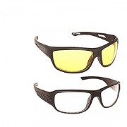 HD Glasses Best Quality Yellow White Color Glasses In Best Price 2Pcs. (SEEN AS TV)
