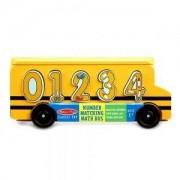 Дървен автобус с цифри за вграждане Melissa and Doug, 000772193986
