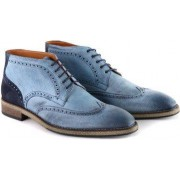 Suitable Wingtip STBL Boot Jeans Blauw