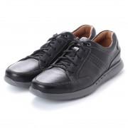 ASBee クラークス Clarks Unlomac Lace Black Leather (ブラック) メンズ