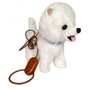 Toyshine Musical Soft Dog Toy with Moving Tail, Running Function, White, Assorted Design