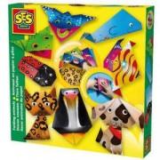 Детски креативен комплект - Направи си хартиени животни, SES, 080575