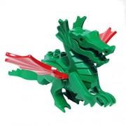 MinifigurePacks Lego Castle - Dragon Knights Classic Green Dragon MAJISTO s Dragon w Red Wings