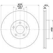TEXTAR Discos De Freno MAZDA 92223503 B37F3325X,B37F3325XA