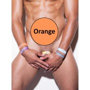 N2N Bodywear Tie Dye Cock Strap Orange CS4