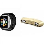 Mirza GT08 Smart Watch and Gibox G6 Bluetooth Speaker for SAMSUNG GALAXY S6 EDGE(GT08 Smart Watch with 4G sim card camera memory card  Gibox G6 Bluetooth Speaker )