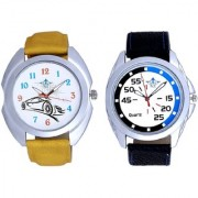 Exclusive Blue-Black Round And Rolls-Royce Car Men's Combo Wrist Watch By Google Hub