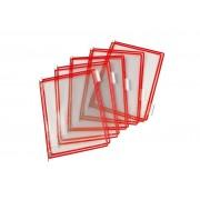 Folie A4 color pentru suport mural - rosu