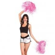 Cheerleader pompon luxe roze per stuk