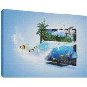 3D TV 3 - Tablou canvas - 52x70 cm