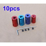 Generic 3 to 3 : Free Shipping 10pcs Aluminium alloy coupler for RC Boat shaft motor connector joint 2/2.3/3.17/4/5/6//7/8mm