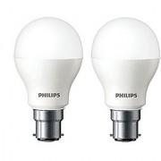 Base B22 7-Watt LED bulb Cool Day Light Pack of 2