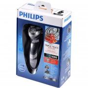 Afeitadora rotativa eléctrica húmeda y seca de Philips AquaTouch con cabezales de TripleTrack, cabeza de SmartPivot recortadora AT921/28 para hombre negro(Negro)