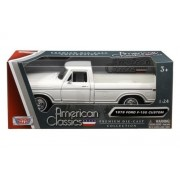 Motormax 1979 Ford F-150 Pickup WHITE 1:24 Scale Diecast Model Truck