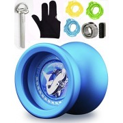 MAGICYOYO Responsive Unresponsive Yoyo T9 Shark with Glove+ Bonus Bearing Tool+3 Strings-Blue