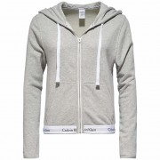 Calvin Klein Hoodie pentru barbati Modern Cotton Linen Extension Top Hoodie Full Zip QS5667E-020 Grey Heather L