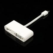 Vido - Mini DisplayPort naar HDMI en VGA Adapter Kabel met 3D Ondersteuning