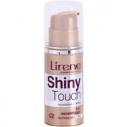 Lirene Shiny Touch maquillaje fluido iluminador 16h tono 104 Natural (SPF 8) 30 ml