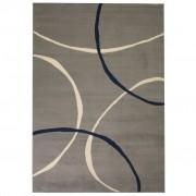 vidaXL szürke modern szőnyeg kör mintával 120 x 170 cm