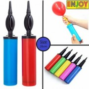Nawani Air Balloon Pumps for Balloons Toys Party Accessory (Set of 2 Size 28 cm Multi Color)