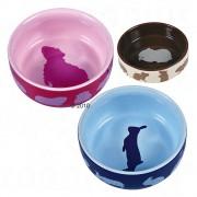 Trixie Bol ceramic pentru animale mici - Hamster 80 ml, Ø 8 cm