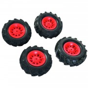 Rolly toys luchtbanden rollyfarmtrac premium zwart/rood 4 stuks