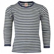 Engel - Kinder Shirt L/S - Sous-vêtement mérinos taille 128, gris/noir