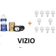 Vizio Solar Light with 10 watt set of 10 led bulbs