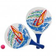 Merkloos Actief speelgoed tennis/beachball setje blauw met windsurfmotief